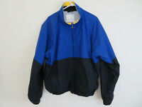 Vintage 90s Men's Nautica Competition Windbreaker Blue Black Jacket Size 2XL