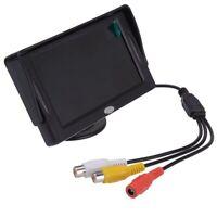 """moniteur ecran de recul de voiture LCD 4,3 """"Camera DVD CD Noir Q3I3"""