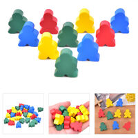 30 PCS Wooden Chess Mixed Color Standard Size For Board Game Accessor Jf