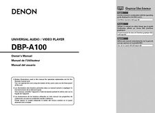 Denon DBP-A100 Blu-ray Player Owners Instruction Manual