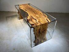Esstisch River Table Echtes Holz Flusstisch Massiv Epoxidharz Tische 120x60 Neu