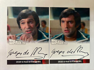Space 1999 Series Gregory De Polnay Autograph Cards Both Variations