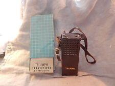 Vintage Triumph TC-900 9 Transistor Radio with Box and Case