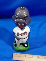 Vintage Atlanta Braves Bobblehead Head Ceramic Chalkware Baseball Uniform MLB 8""