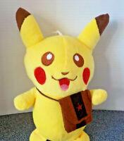 """Pokemon Pikachu Soft Stuffed Plush Yellow Cuddly Toy Size 8"""" New"""