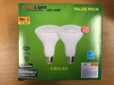 LED Flood Light Bulb OptoLight, 2 PACK, BR30 Dimmable, 2700K Soft White 11W=65W