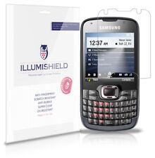 iLLumiShield Phone Screen Protector w Anti-Bubble/Print 3x for Samsung Omnia Pro