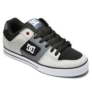DC SHOES MENS PURE TRAINERS.LEATHER UPPER GREY BLACK SKATE SHOES RUBBER SOLE S21