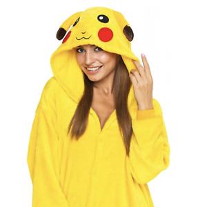 Combinaison pyjama une pièce Pikachu costume onesie cosplay kigurumi adulte doux