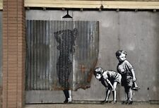 Banksy - Woman showering  - 50 x 65 cm. Arches Paper - Printed Signature