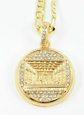 """CELEBRITY Small Gold Plated Last Supper Pendant 24""""Chain 35mm Charm Set#9"""