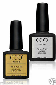 TWIN CCO UV LED Gel Package Deal Top And Base Coats for Any Brand Colour