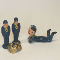 Lot of Vintage Boy / Cub Scout figurines and Neckerchief Slide Items (4)