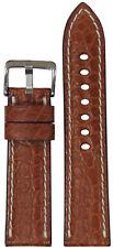 Alligator Flank Watch Band w White 22mm Xl Rios1931 for Panatime Cognac Genuine