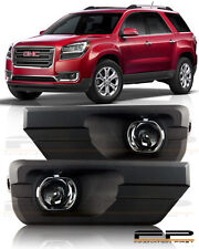 13 14 15 16 GMC ACADIA Clear Fog Light Lamps Full Complete Kit Switch+Harness