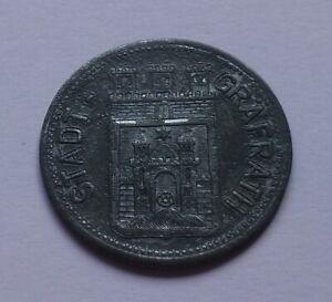 Notgeld: Germany, Gräfrath 50 Pfennig 1917, War money, Emergency coin
