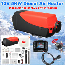 5KW 12V Diesel Fuel Air Heater LCD Switch Remote Control Trucks Boat Car Trailer