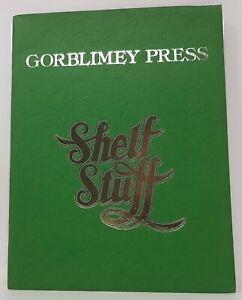 GORBLIMEY PRESS SHELF STUFF 1st Printing 1975 BARRY WINDSOR-SMITH Green