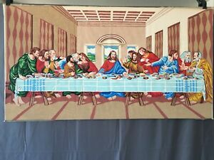 Vintage Paint by Numbers The Last Supper Color Paper Felt Marker Art
