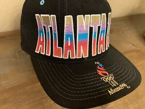Vintage Starter Olympics Cap Hat Atlanta 1996 New Black Snapback 100% Wool CLEAN