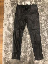 Zara Woman Black Leather Leggings Trousers Med 10 12 6 8 38 40 42 44 Isabel