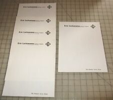 Lot of 5 ERIE LACKAWANNA RAILWAY COMPANY Unused Pieces of Stationary - Nice!