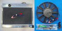 3 ROW ALLOY ALUMINUM RADIATOR & 14 Inch Thermo Fan for DATSUN 1600 MANUAL MT