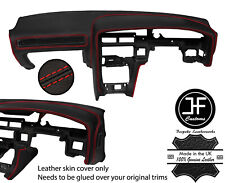 RED STITCH DASH DASHBOARD REAL LEATHER COVER FOR TOYOTA SUPRA MK3 86-93 JF1