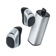 Pour Samsung GALAXY ACE S5830 : Ecouteurs Bluetooth + boitier de charge Argent