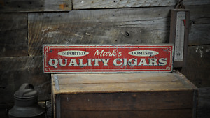 Custom Quality Cigar Smoke Room - Rustic Handmade Vintage Wooden Sign
