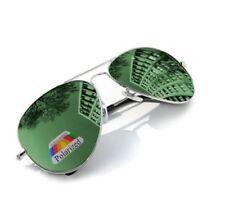 Gafas de sol de mujer verde aviador de metal