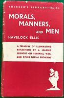 Moral Manners & Men by Havelock Ellis 1940 h/b Eugenics War Social Problems VGC