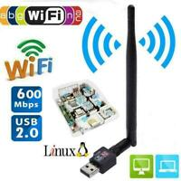 600Mbps USB Wifi Router Wireless Adapter PC Network LAN Card Dongle +5Anten J1X6