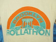 vintage 1980 Brooklyn Nyc Rollathon Sunset T-Shirt Medium roller skate derby 80s