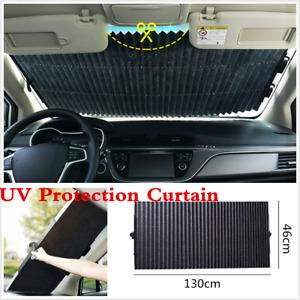 New Car Retractable Curtain With UV Protection Front Windshield Visor Auto Shade