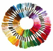 100 X Cross Stitch Cotton Sewing Skeins Embroidery Thread Floss Mix Colors Kit