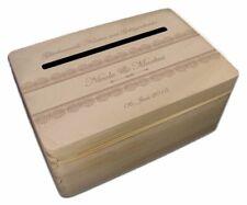 kleine Holz-Geschenkbox zur Hochzeit Briefbox (2) Geldgeschenke incl Lasergravur