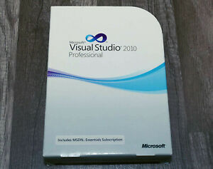 Microsoft Visual Studio 2010 Professional Pro full version pre-owned C5E-00521