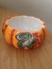 Small Pumpkin Thanksgiving Holiday Fall Dip Relish Side Bowl