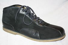 Bacco Bucci Black Suede & Leather Lace Up Ankle Boots / High Top Shoes Mens 11