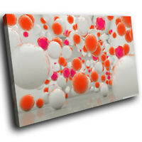 ZAB218 Orange Pink Grey Cool Modern Canvas Abstract Wall Art Picture Prints