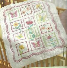 BUCILLA SOPHIE BABY QUILT Stamped Cross Stitch SEALED,MPN 43902 PRE-QUILTED