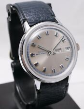 Nice! 1975 Timex Water Resistant Mechanical Hand Wind Day Date Men's Wrist Watch