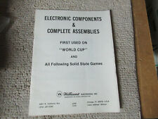 Williams Pinball electronic componets complete assemblies arcade game manual