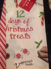 STOREHOUSE KITCHEN TEA TOWELS (2) 12 DAYS OF CHRISTMAS TREATS NWT