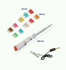 Herramienta 6-24 Dc Voltios Auto Coche Voltaje Tester Destornillador 10 Piezas fusible eléctrico Pen