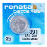 Renata 391 Pila Batteria Orologio Mercury Free Silver Oxide SR1120SW Swiss 1.55V