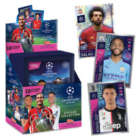 2019-20 TOPPS UEFA  CHAMPIONS LEAGUE STICKER BOX 30 PACKS (150 STICKERS)