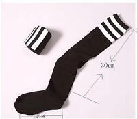 Femme noir  rayées,  football  de sport pour chaussettes ,épaississement coton