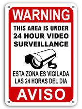 Cctv Warning Home Security Video Surveillance Camera Sign English/Spanish Aviso